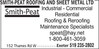 Smith-Peat Roofing and Sheet Metal Ltc