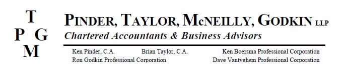 PINDER, TAYLOR, MCNEILLY, GODKIN CHARTERED ACCOUNTANT